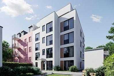 Saxonyards Wohnhaus mit 2 bis 3 Zimmern und Balkon