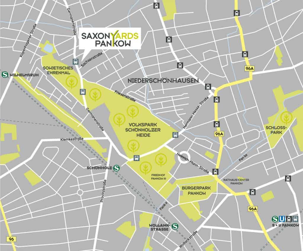 Karte SaxonYards