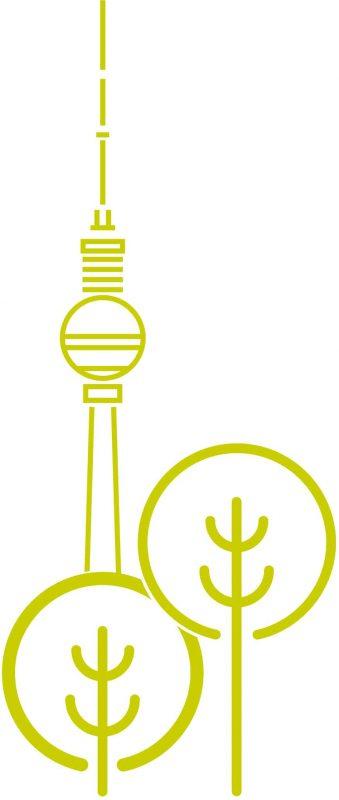 Icon mit Baeume und Berliner Fernsehturm