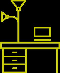 Icon Schreibtisch